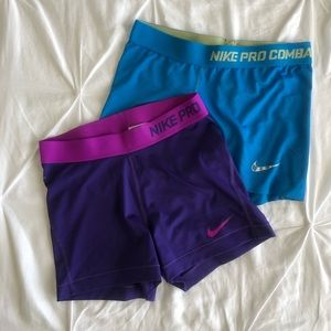 nike pro colorful workout spandex (both pairs!!)